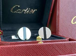Cartier Vintage 925 Solid Silver Cufflinks & Original