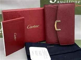 Cartier Paris Ladies Purse/Credit Card Leather Holder.