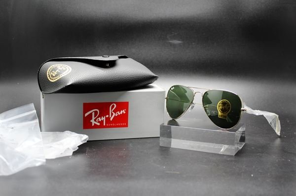 Pair of new original Rayban sunglasses, unopened