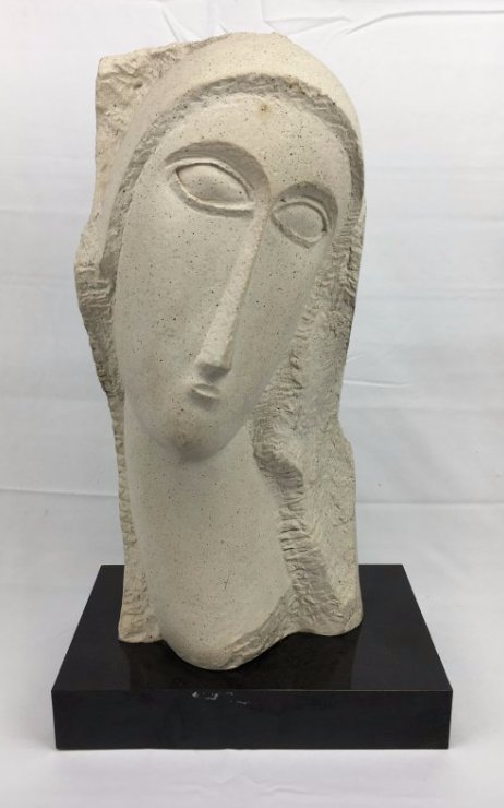 Amedeo Modigliani sculpture by Austin Prod Fisher