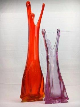 Mid Century Modern Viking Glass vases lot