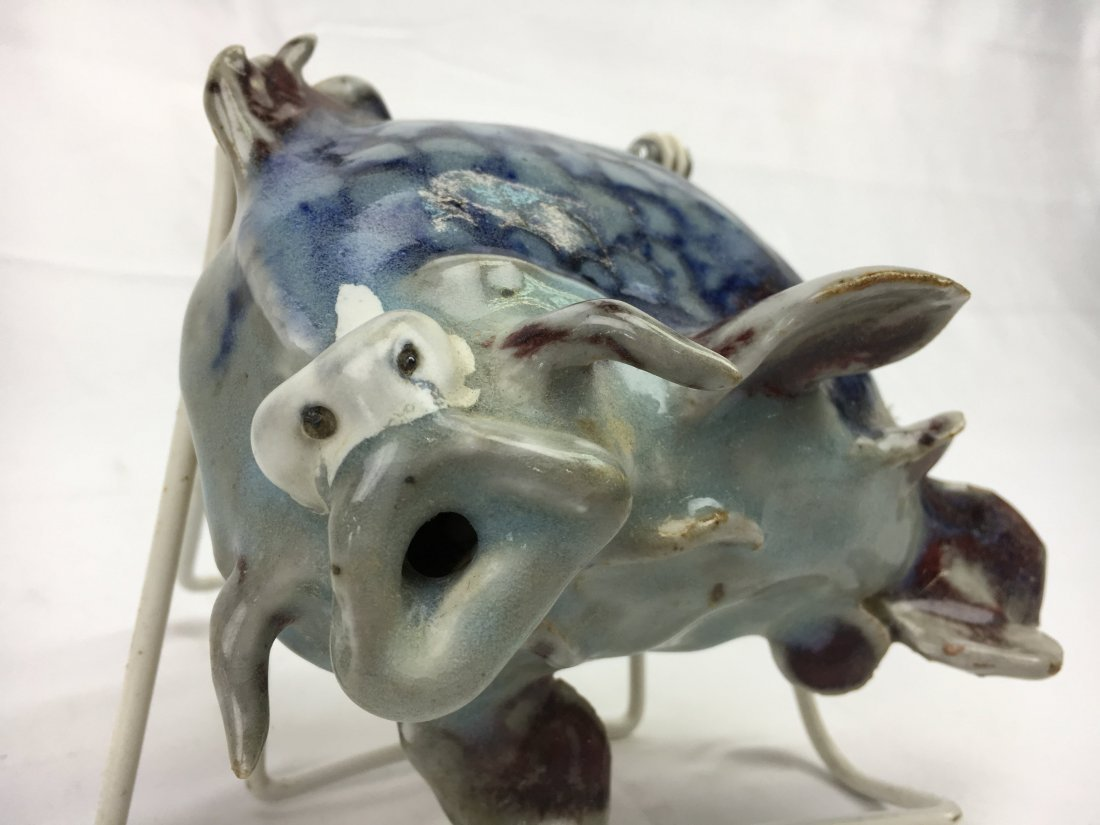"Dezurik pottery fish the ""eyes"" have it...outsider art"