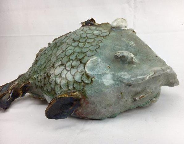 Dezurik chubby Flounder pottery clay art