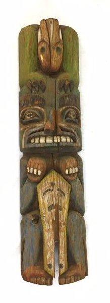Ca. 1900 Northwestern Coast Totem Pole #1