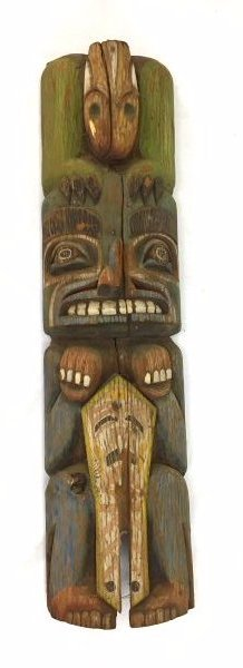 Ca. 1900 Northwestern Coast Totem Pole #1