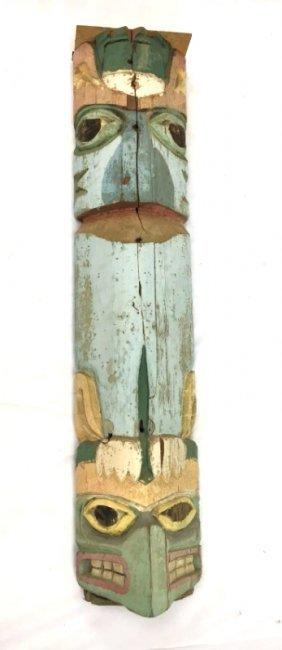 Ca. 1900 Northwestern Coast carved wooden totem pole #3