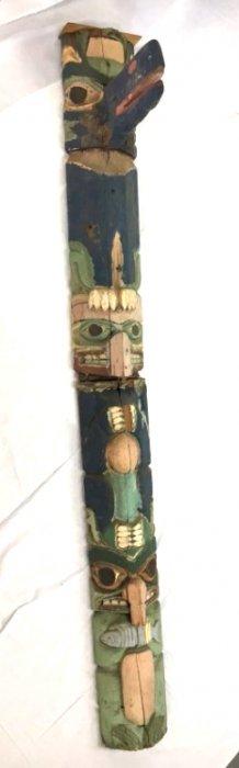 Northwestern Coast Native totem pole Ca. 1900 #8