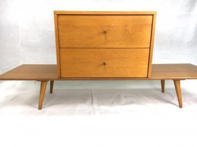Paul McCobb Planner Group Bench & Cabinet Maple MCM