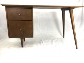 Paul McCobb Planner Group Desk Walnut Mid-Century Mod