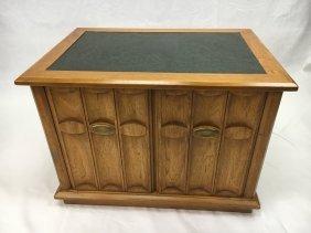 Drexel Heritage storage end table marble top MCM