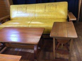 Mid Century Modern Cowboy Wagon Wheel furniture set