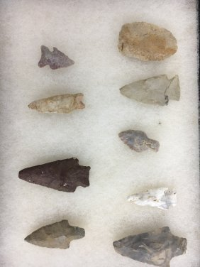 Collection of Native American Arrow Head Points