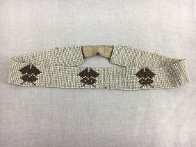 Native American beaded belt Ca. 1900 figural