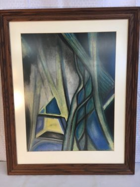 Daniel Kabele oil pastel abstract drawing