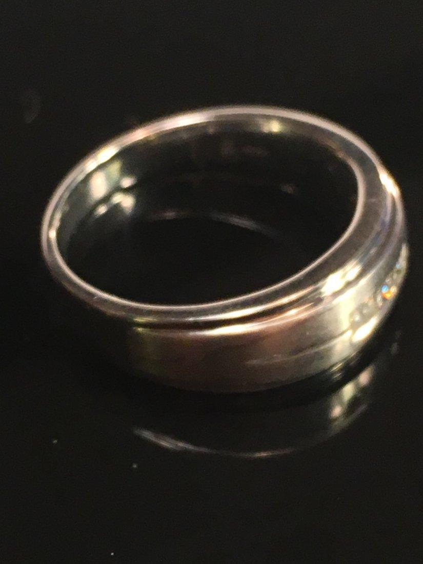 Bold Men's 14k White Gold & Diamond Ring - 3