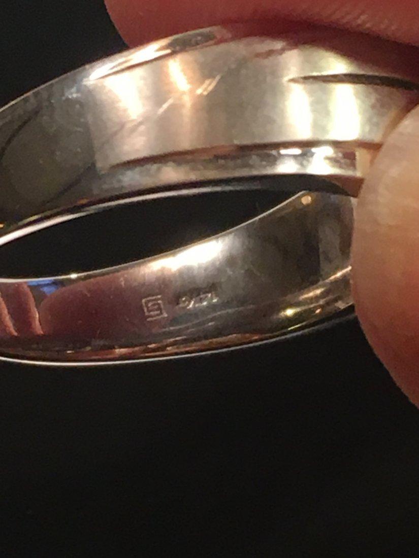 Bold Men's 14k White Gold & Diamond Ring - 4