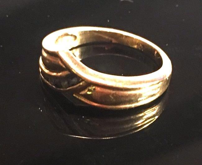 Glamorous Ladies Gold & Sapphire Pavé Ring - 2