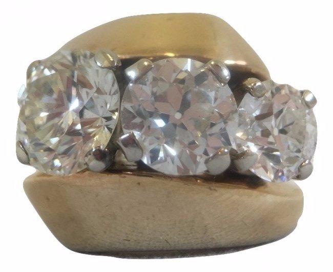 IMPORTANT Ring 3 Diamonds 2.20 ct, 1.5 ct, 1 ct
