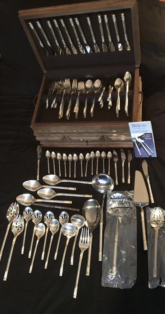 Wallace Sterling flatware Golden Aegean Weave 132 pcs