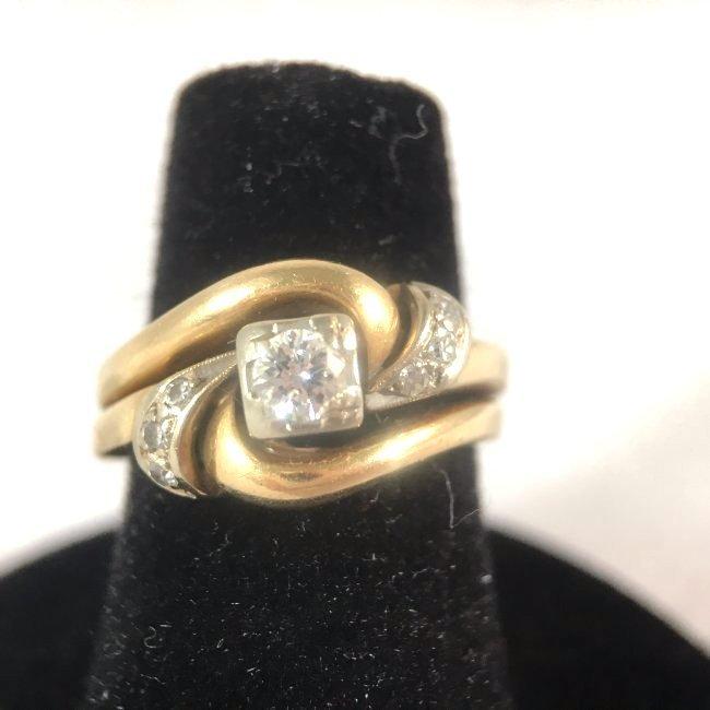 Round Brilliant Diamond Ring Set in 14K Yellow Gold