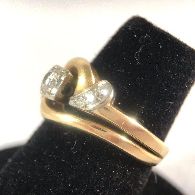 Round Brilliant Diamond Ring Set in 14K Yellow Gold - 3