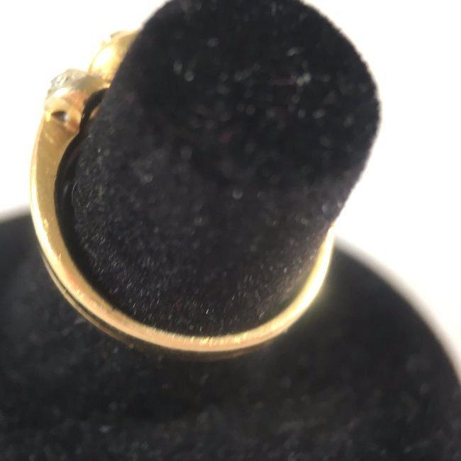 Round Brilliant Diamond Ring Set in 14K Yellow Gold - 4