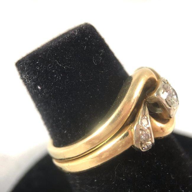 Round Brilliant Diamond Ring Set in 14K Yellow Gold - 5