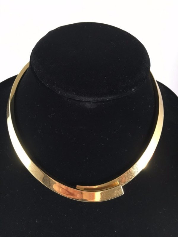 Runway 1979 PESAVENTO Solid 18K Gold crossover necklace - 2