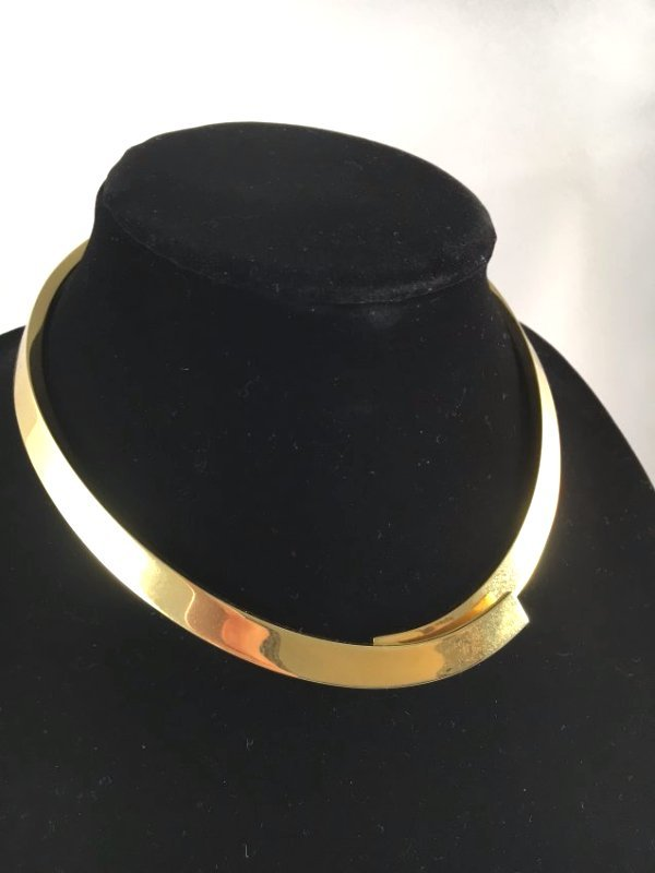 Runway 1979 PESAVENTO Solid 18K Gold crossover necklace - 4