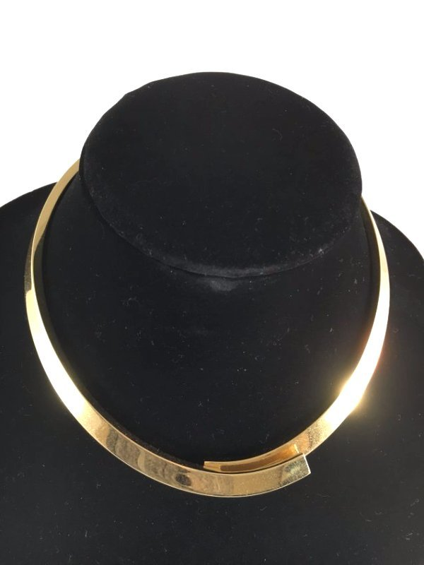 Runway 1979 PESAVENTO Solid 18K Gold crossover necklace - 7