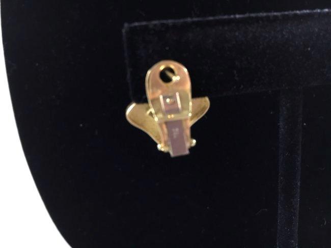 Greek Key Gold Necklace & Earrings Demi-Parure - 6