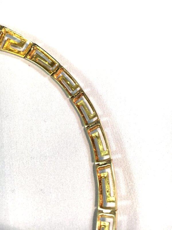 Greek Key Gold Necklace & Earrings Demi-Parure - 7