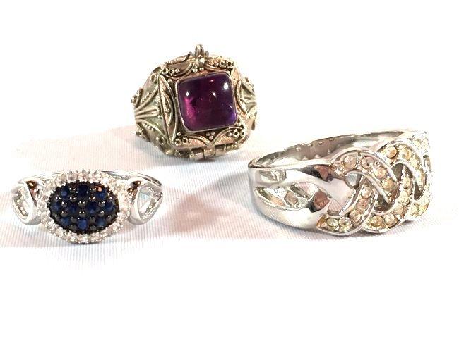 3 Ladies Rings Amethyst Gabriel Sapphire Pavé