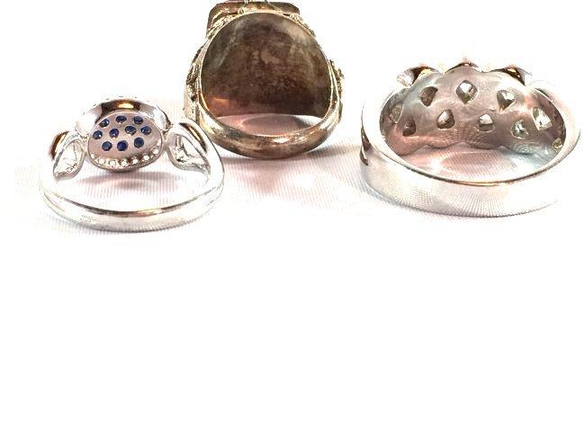 3 Ladies Rings Amethyst Gabriel Sapphire Pavé - 7