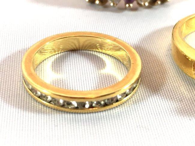 3 Ladies Rings Marquise Amethyst & Sterling - 3