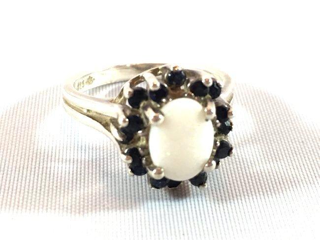 3 Sterling Silver Rings Opal, Topaz, Amethyst - 4