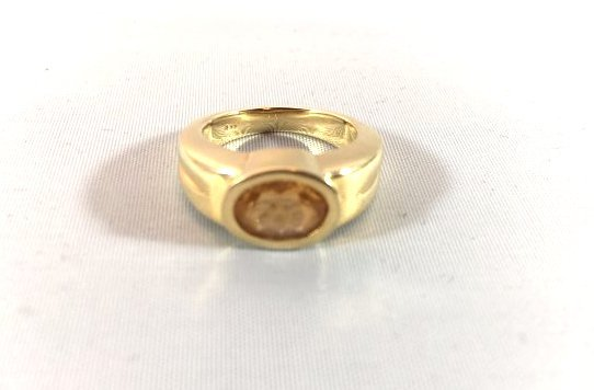 Oval Cut Citrine 14k Gold Ladies Ring size 5.5