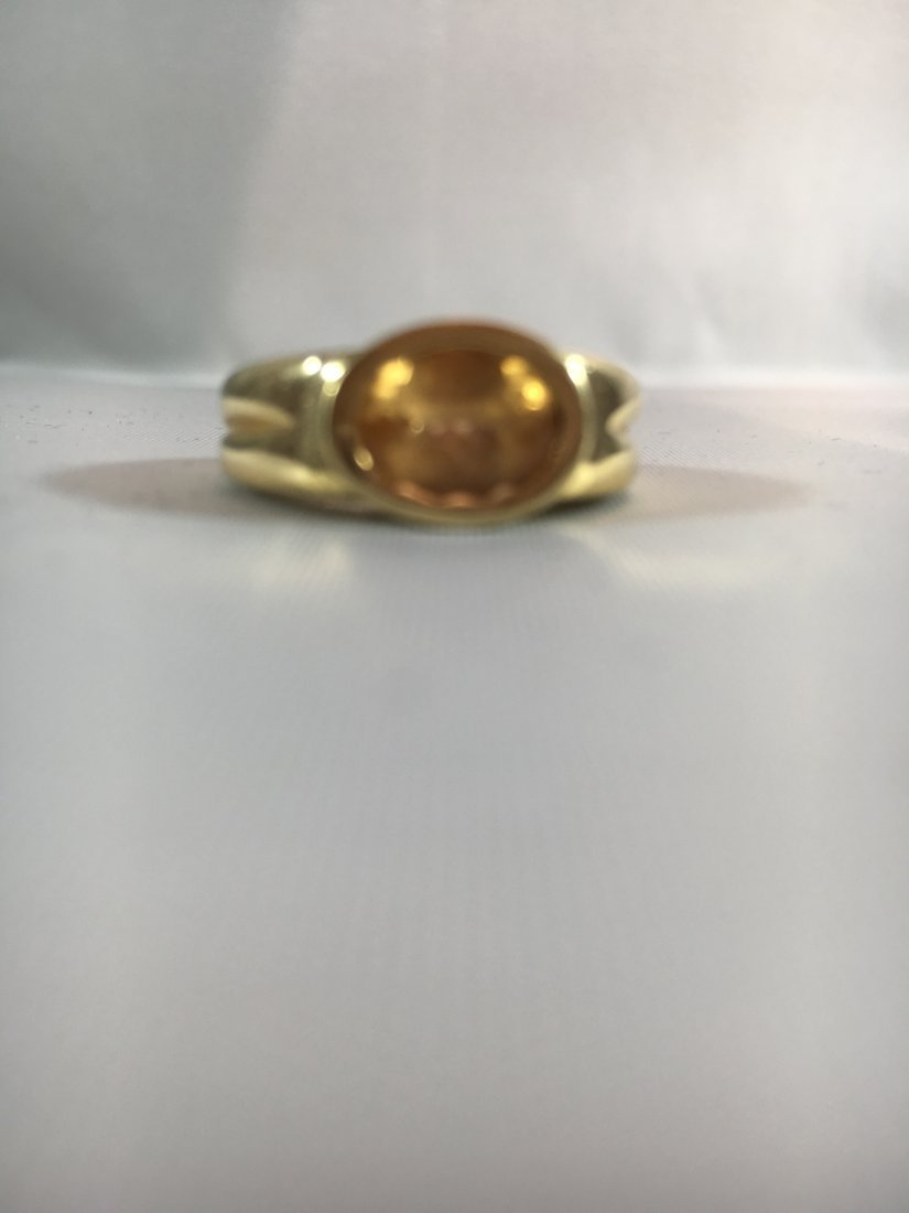 Oval Cut Citrine 14k Gold Ladies Ring size 5.5 - 4