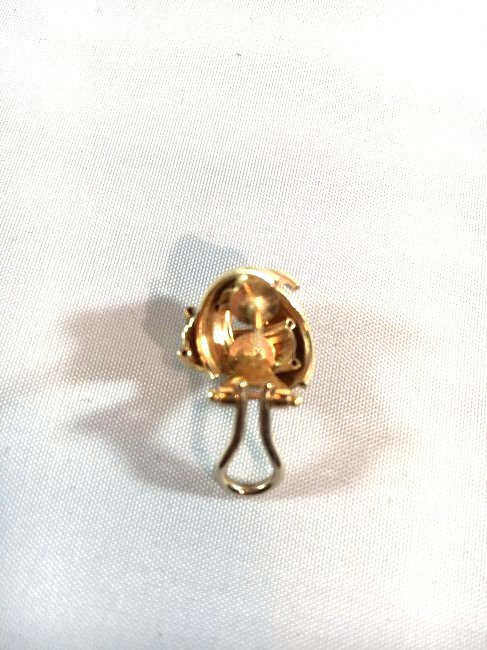 14k Brushed Gold Knot Ladies Pierced Earrings - 4