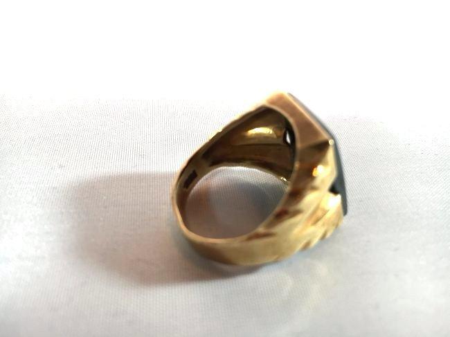 Men's Trojan Intaglio Ring Set in 10k Gold sz 11 - 5