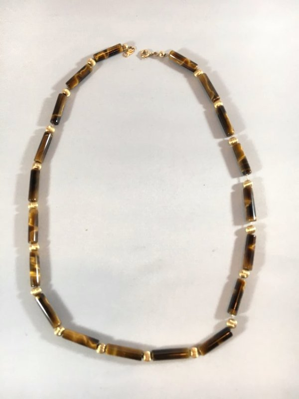 Tiger's Eye & 14K Gold Necklace Roar!