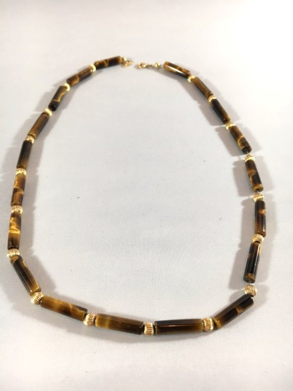 Tiger's Eye & 14K Gold Necklace Roar! - 2