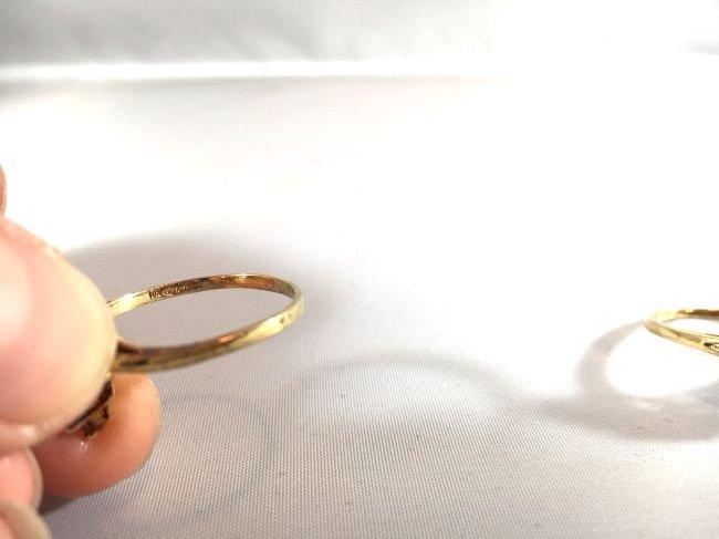 2 Ladies Rings Marquise Ruby Cluster & Pavé Diamond - 5