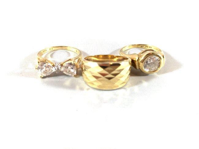 Fabulous Gold Ladies Rings (size 5) - 2