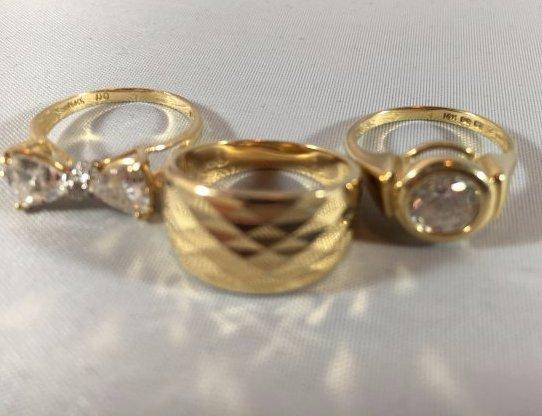 Fabulous Gold Ladies Rings (size 5) - 3