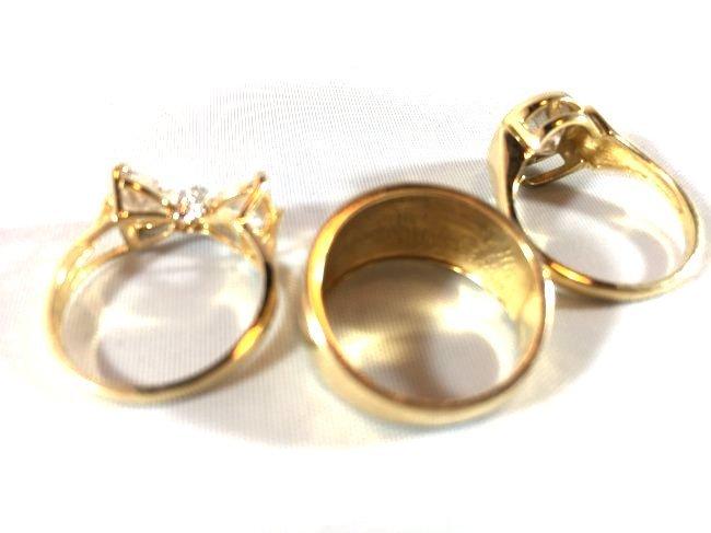 Fabulous Gold Ladies Rings (size 5) - 4