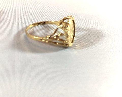 2 Ladies 10K Gold Rings Diamond Pavé - 3