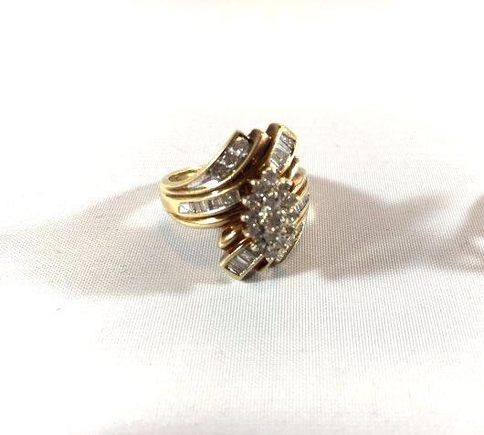 2 Ladies 10K Gold Rings Diamond Pavé - 5