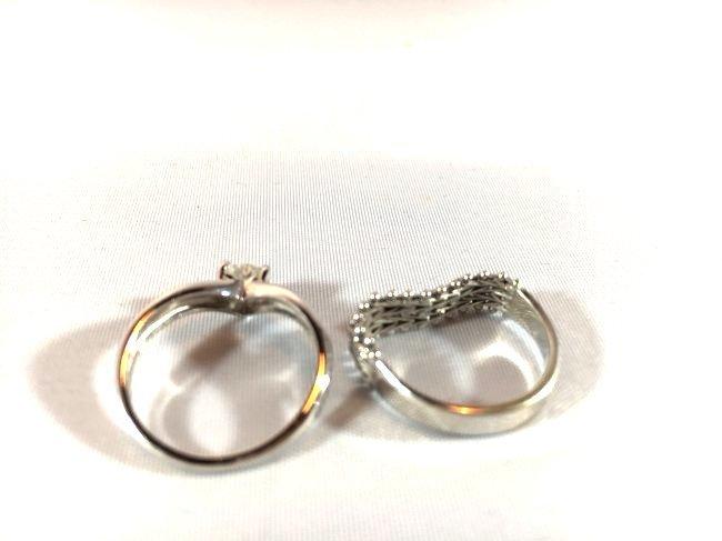 2 Darling 14K White Gold Ladies Rings (sz 5-6) - 4