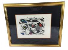 Joan Mir signed lithograph A lencre Hors Commerce